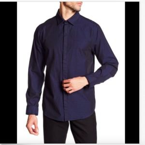 NWT Howe Button Down Navy Shirt - Large